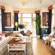 家居客厅窗帘展示