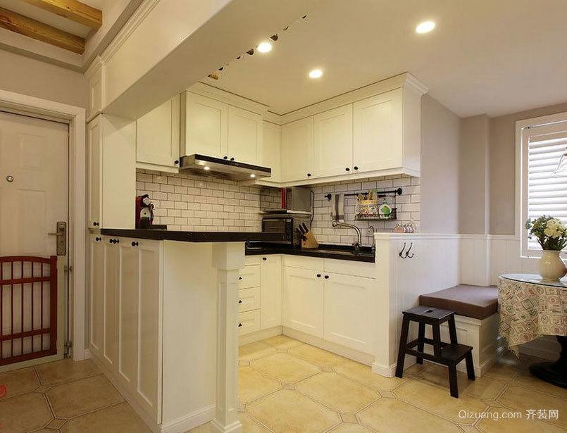 西方国家的时尚开放式厨房装修效果图大全