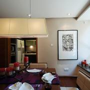 平房餐厅装饰画图