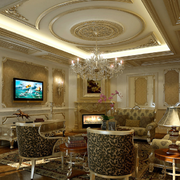 欧式古典客厅图