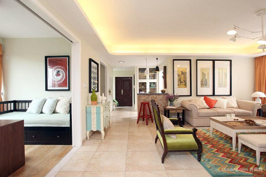 创意120平米小清新混搭风格婚房装修效果图