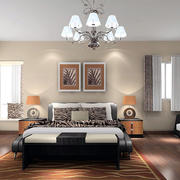卧室米白色壁纸