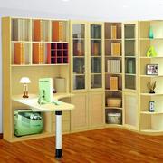 整体书柜书桌图片