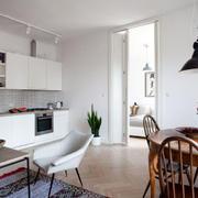 公寓一字型厨房图片