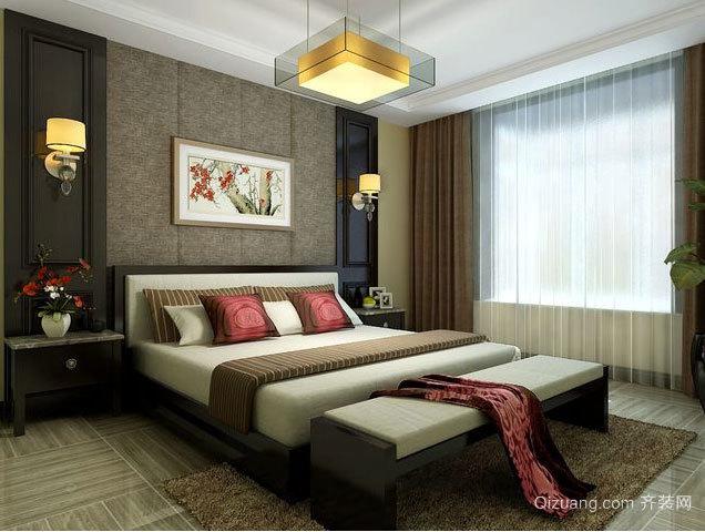 大户型颇有情调的舒适卧室背景墙装修效果图大全