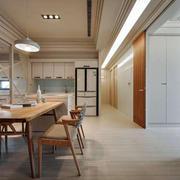 家居餐厅木质桌椅