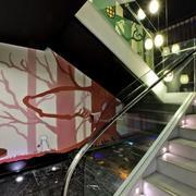 书店前卫玻璃楼梯扶手