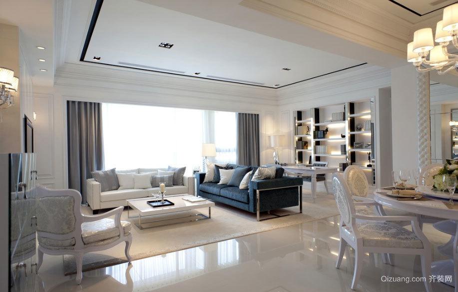 欧式超级大的别墅样板房装修效果图