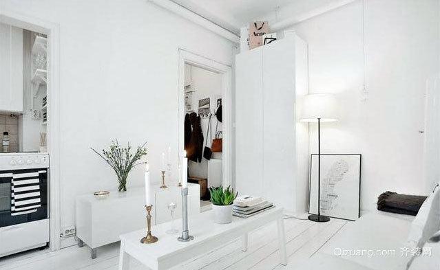 100平米现代简约典雅纯白色房屋装修效果图