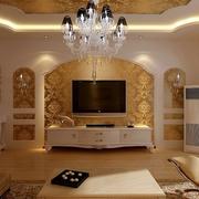 欧式奢华大客厅