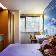 复式楼卧室背景墙