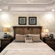 美式卧室背景墙展示