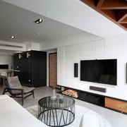 客厅室内电视背景墙