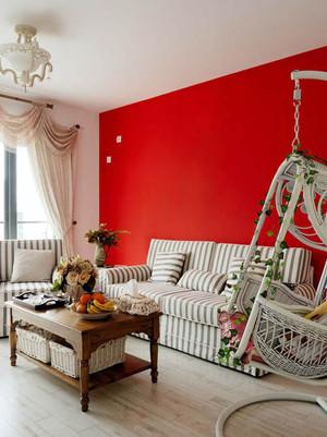 家居客厅红色背景墙