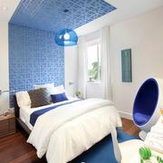 房屋蓝色系卧室装修设计