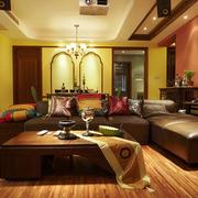 家居客厅沙发茶几布置