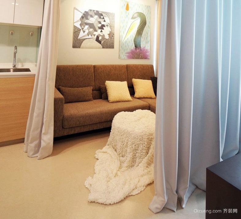 小型开放的连续的单身公寓装修效果图