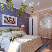 婚房浪漫紫色卧室背景