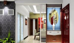 浪漫色彩鞋柜设计图装修效果图
