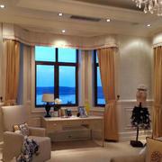客厅飘窗时尚窗帘
