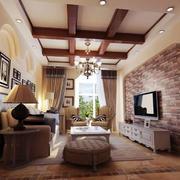 美式客厅吊顶图
