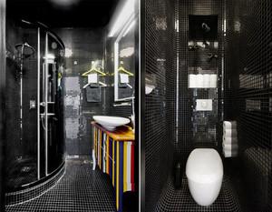 公寓黑色卫生间设计