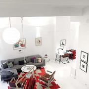 家居客厅白色灯饰