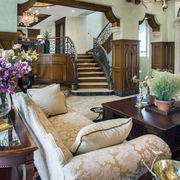 别墅客厅沙发效果图
