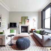 干净现代公寓客厅