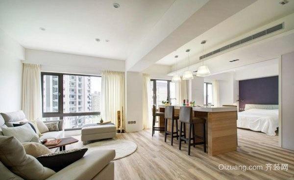 90平米采光极好的单身女公寓装修效果图