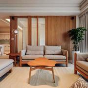 家居客厅沙发背景墙展示