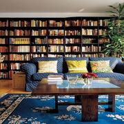 家居沙发书柜背景墙