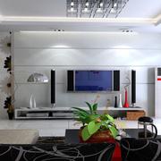 房屋客厅电视瓷砖背景墙
