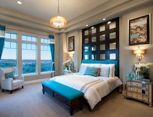 2015优雅的地中海风格卧室背景墙装修效果图鉴赏