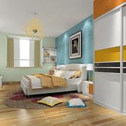 卧室光滑木地板