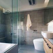 公寓卫生间玻璃隔断展示