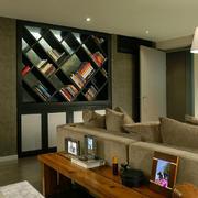 家居客厅小书架