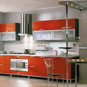 厨房红色橱柜大全