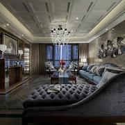 别墅大客厅沙发图