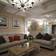现代美式客厅沙发展示