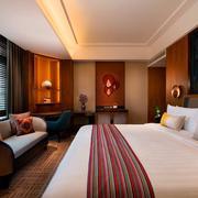 酒店卧室双人大床