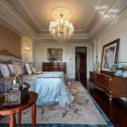 复式楼卧室优雅吊灯图