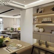 别墅现代化的客厅展示