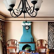 家居美式客厅壁炉