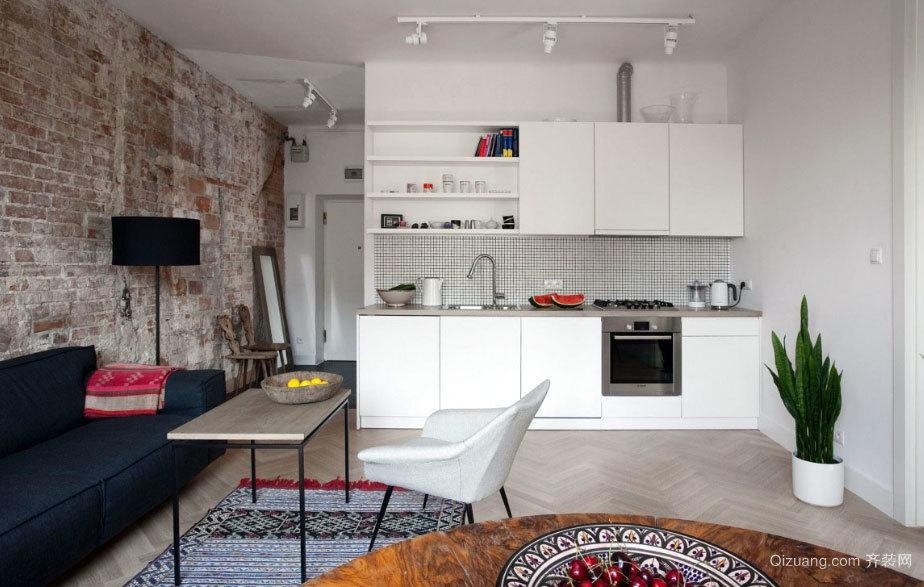 100平米简单而雅致的小资情调单身公寓装修效果图