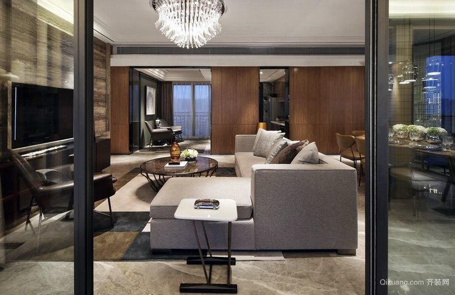 简约具有魅力的60平米大户型客厅装修效果图