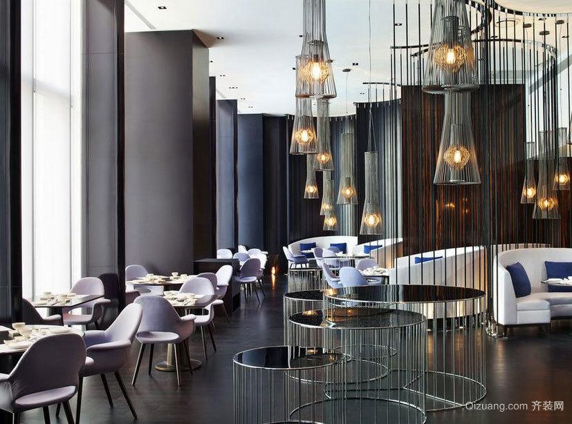 富丽堂皇高级国际化的餐厅装修效果图
