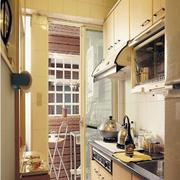 一字型小厨房橱柜展示