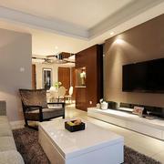 现代客厅简约电视背景墙