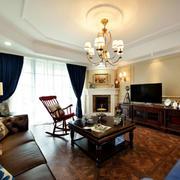 美式大户型客厅设计